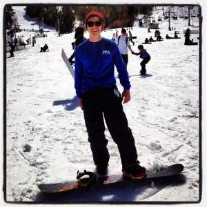 Snowboarding for the 1st time