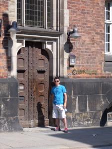 The oldest door in Hamburg
